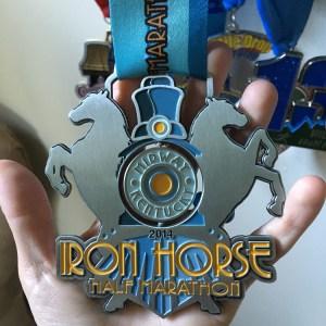 Iron Horse Half Marathon | Favorite Race Medal | Friday Five | Running on Happy
