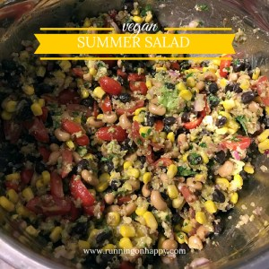 Vegan Summer Salad | Meatless Monday | Running on Happy