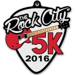 Rock City 5K | 2016 Finishers Medal | Running on Happy