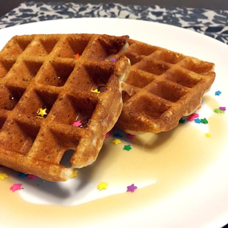 Happy Birthday Cake Batter Protein Waffles