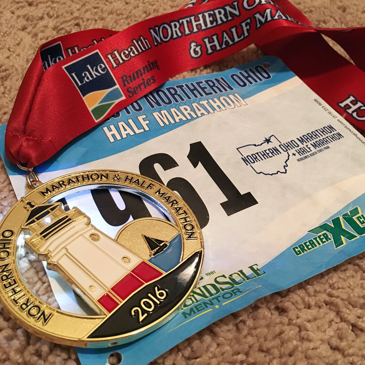 Northern Ohio Half Marathon | Review + Recap | Running on Happy