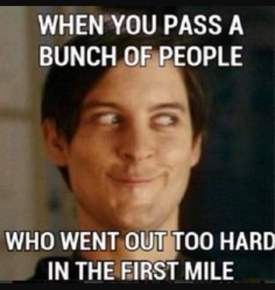 toohardfirstmile?resize=284%2C300 what i tell my athletes before a race in memes running on happy,Thinking Hard Meme