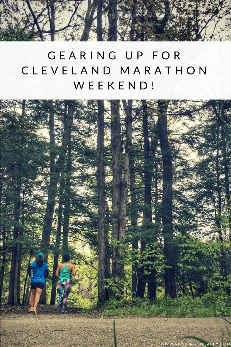 Happy race week, CLE! In just a few short days we'll toe the line of the Cleveland Marathon events. So many Cleveland races, such little time.