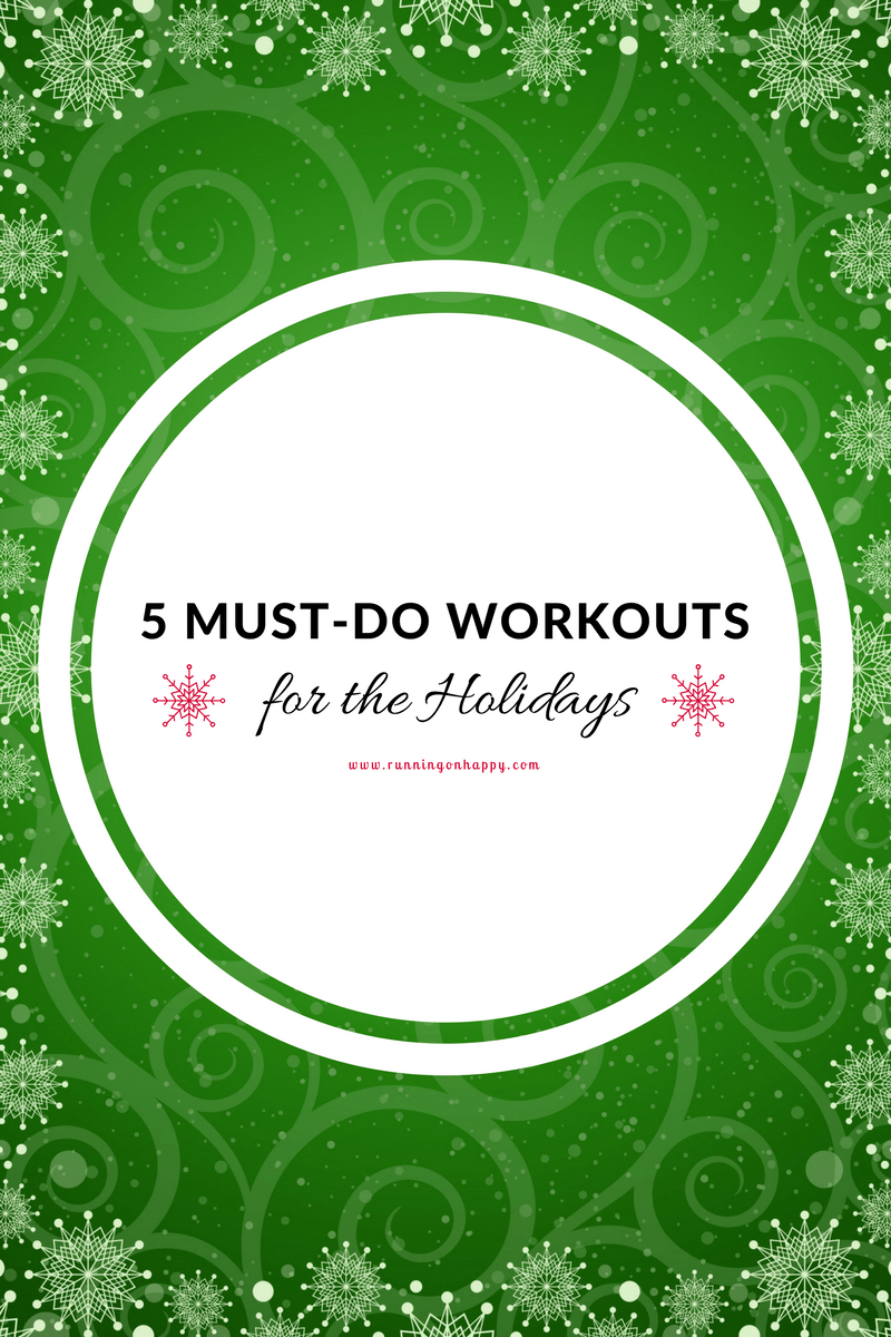 Ho ho ho! Shake up your usual workout routine with these five FUN workouts! Pssst... they'll help you stay fit during the holidays.