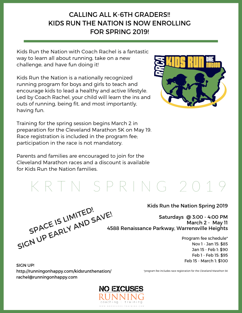 Kids Run the Nation Spring 2019 | Running on Happy