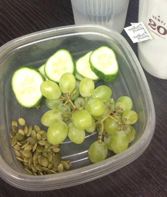 Grapes, Cucumber, Pumpkin Seeds
