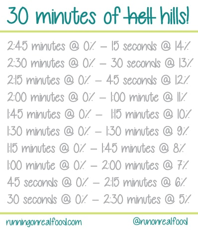 30 minutes of hills workout