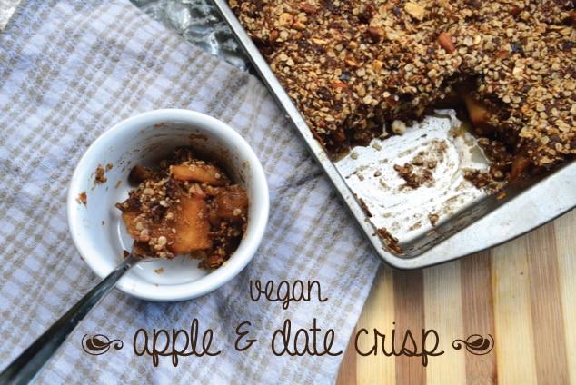 Vegan Apple and Date Crisp