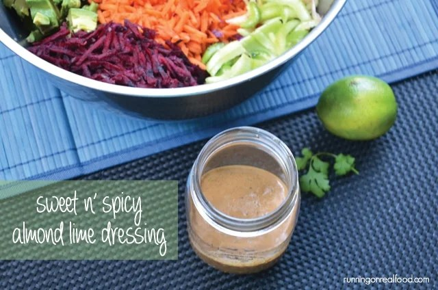 Sweet n' Spicy Almond Lime Dressing