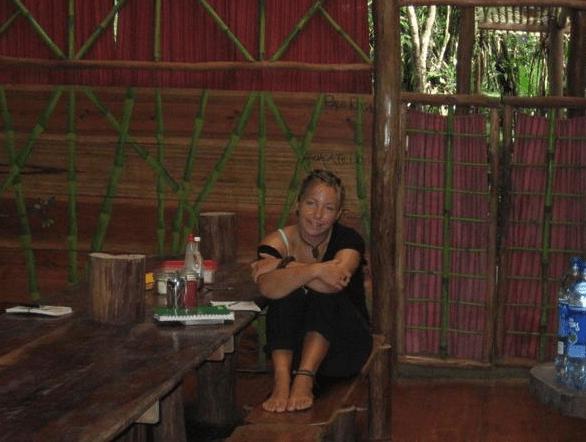 At a jungle hostel in Guatamala