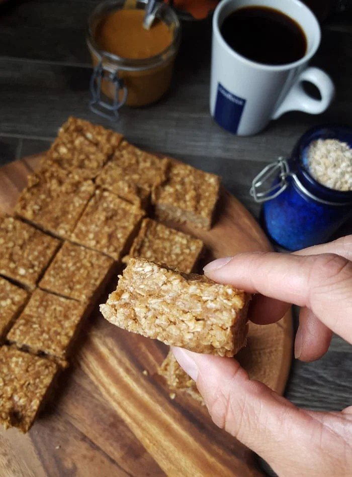 Vegan Cafe Almond Butter Oat Bars