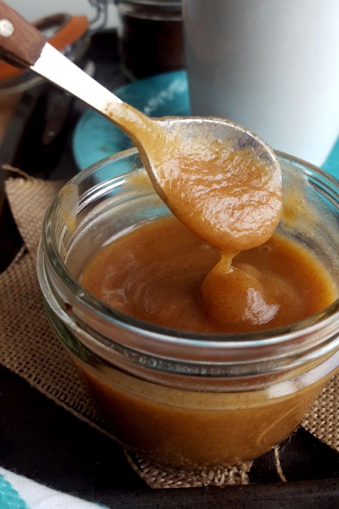 Vegan Salted Caramel Lattes with Quick Date Caramel Sauce