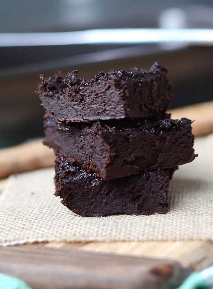 5-Ingredient Low Fat Flourless Protein Protein Brownies - Vegan, Gluten-Free, Healthy, Low Carb, Oil-Free