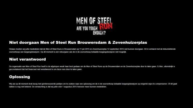 Men of steel run
