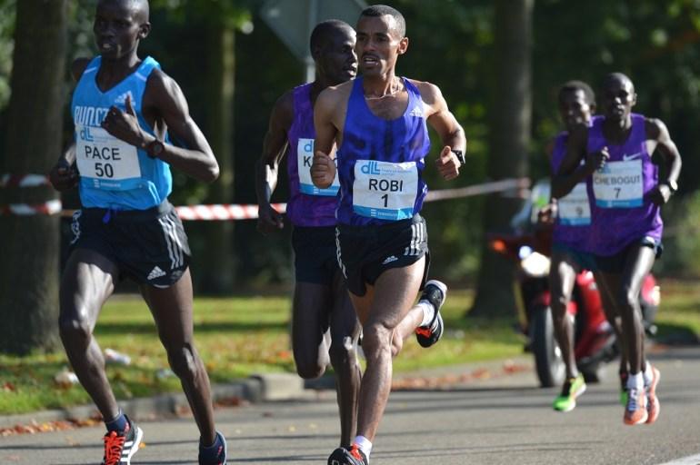 Robi tijdens Marathon Eindhoven