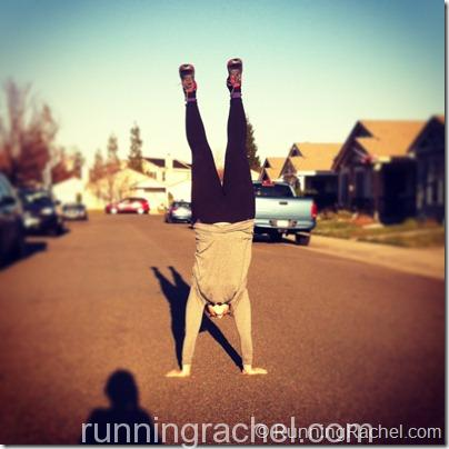 handstand Friday with @RunningRachel