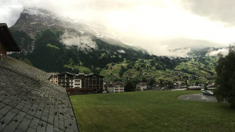 Eiger view from the hotel on arrival day