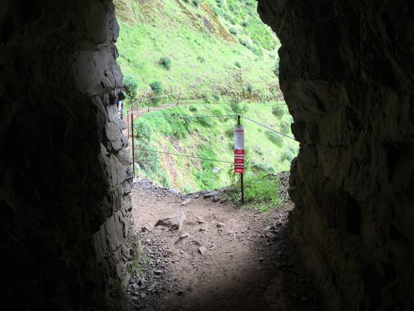 Tunnel through the mountain passes