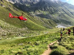 Helping on a mountain rescue