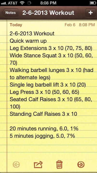 2-6-13 Workout