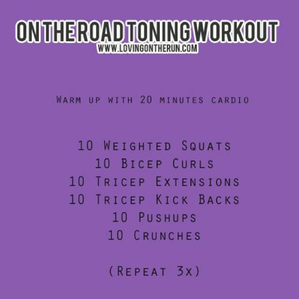 On The Road Toning Workout