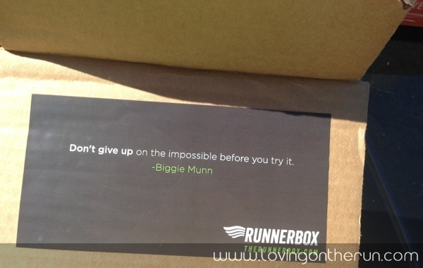 Runner Box Quote
