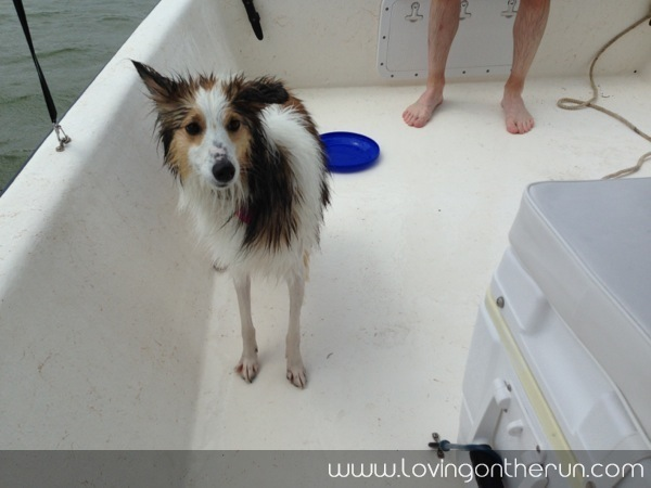 Zoe on the Boat