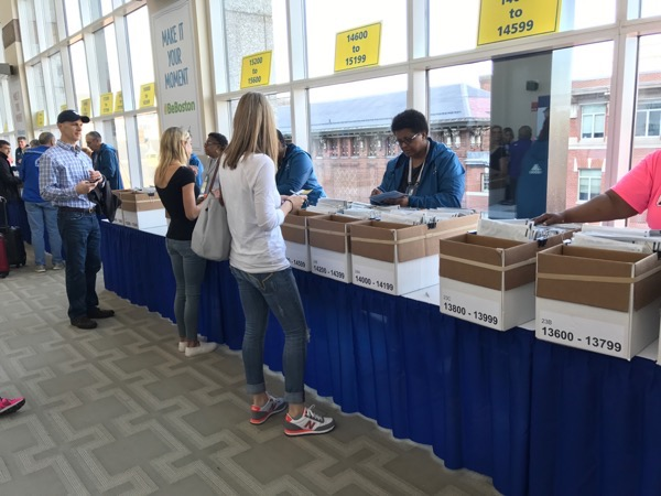 Boston 2017 Packet Pick Up