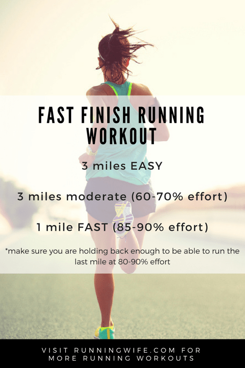 Fast Finish Running Workout