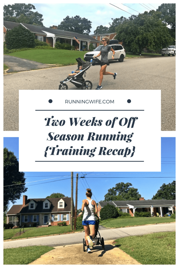 Training Recap 2 Weeks of Running