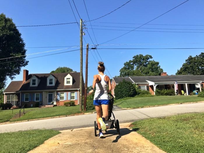 First Stroller Run in New Neighborhood