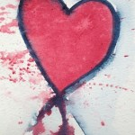 Watercolour painting - Crimson Heart