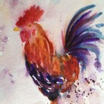 Watercolour painting. Watching You by Judith Farnworth (JFA005)