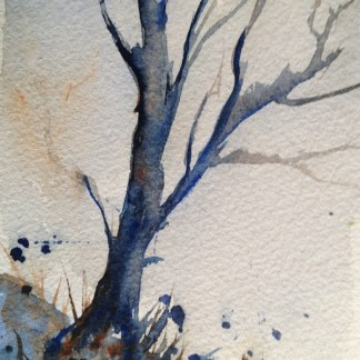 Watercolour painting. Standing Tall by Judith Farnworth (JFA008)