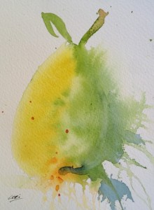 Watercolour painting. Grow a Pear (LBA006)