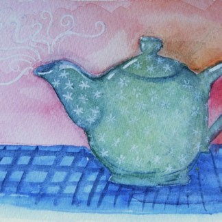 Watercolour painting. Tea Time (LBA012) Artist: Lori Bentley