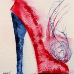Watercolour painting. Parisienne 2 (RWB0051). Artist: Vandy Massey