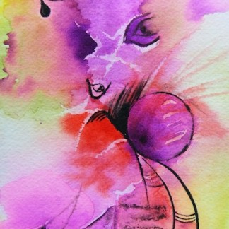 Watercolour painting. Abstraction (CAA002) Artist: Christiane Allenbach