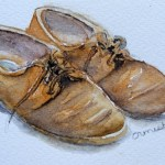 Watercolour Paintings. Old Friends (IOA006). Artist: Ingrid Ormestad