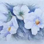 Watercolour Paintings. Symphony in White (IOA012). Artist: Ingrid Ormestad