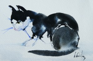 Watercolour Painting. Cute Horatio (OQA004) Artist: Olivia Quintin