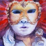 Watercolour painting. Carnival (SDR006). Artist: Sabine De Rode