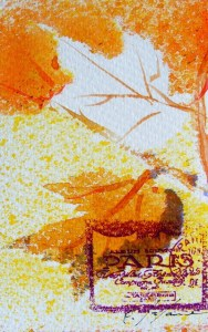Watercolour painting. Autumn in Paris 1 (CAM001). Artist: Claude Ambollet