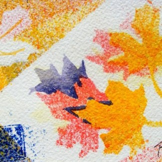 Watercolour painting. Dancing Leaves (CAM006). Artist: Claude Ambollet