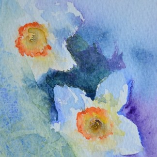 watercolour painting. SBA013 Springtime. Artist: Sue Bradley