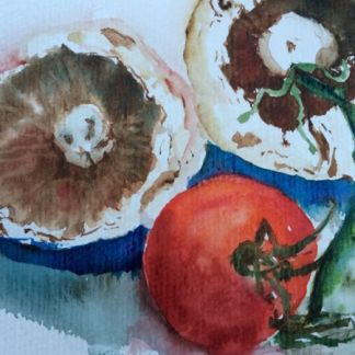 Watercolour painting. RWB0114 The Last Tomato Artist: Vandy Massey