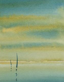 Watercolour painting. MLA002 Key West I Artist: Maggie Latham