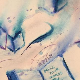 Watercolour painting. RWB0129 Make Your Words Fly Artist: Vandy Massey