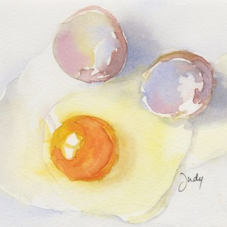 Watercolour painting. JBA003 Breakfast of Champions. Artist: Judy Barends