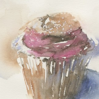 Watercolour painting. JBA008 Teatime Treat. Artist: Judy Barends